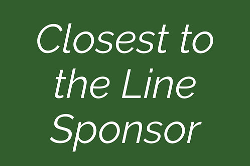 Closest to the Line Sponsor