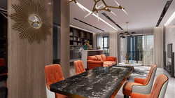interior designers in Kolkata _ Living _ Dining Area Designs