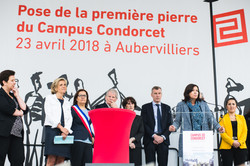 1ère pierre Campus Condorcet