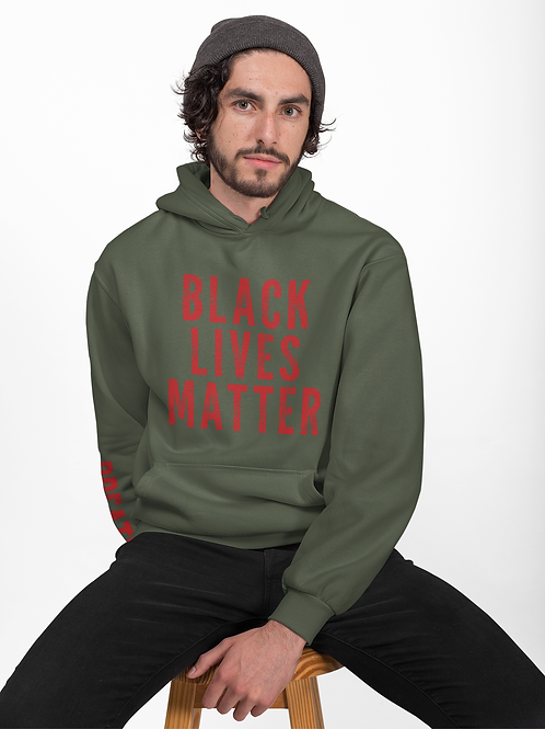 Black Lives Matter Red Campaign Hoodie (Army)