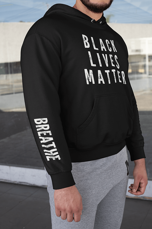 Black Lives Matter Red Campaign Hoodie (Black)
