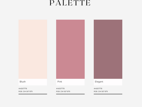 Romantic Pink Color Palette for your Wedding