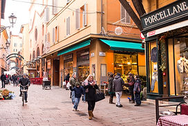 medieval city centre of Bologna, Italy.j