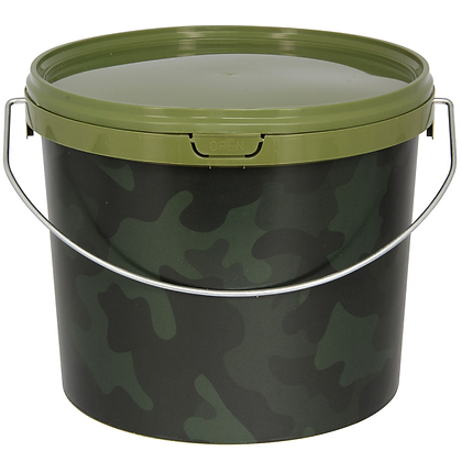 2.5 Litre NGT Round Camo Bucket with Metal Handle