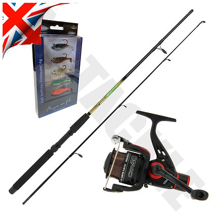 Starter Spinning Rod & Reel Set with Lures