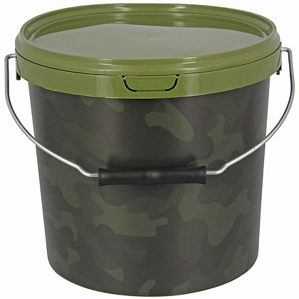 5 Litre NGT Round Camo Bucket with Metal Handle