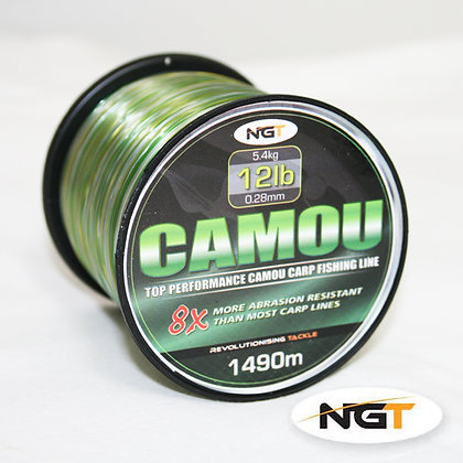 NGT Spool of Camo Line 12lb