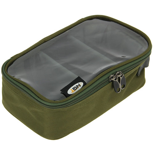 A Deluxe Clear Top Three Way Lead Bag With Two Removable Material Dividers And Carry Handle Ideal For Storing Leads Accessories