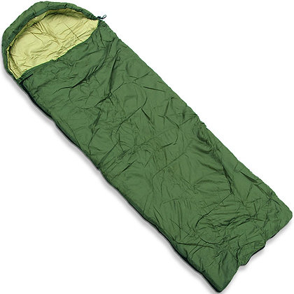 Green Sleeping Bag With Case