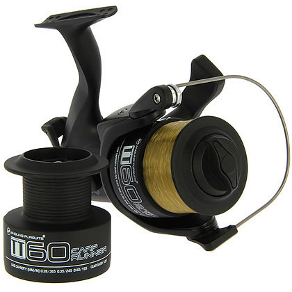 TT60 4BB Twin Handle 'Carp Runner' Reel With 10lb Line + Spare Spool