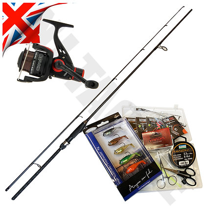 Deluxe Spinning Rod & Reel Set with Lures and kit