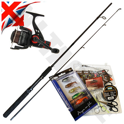 Spinning Rod & Reel Set with Lures and kit