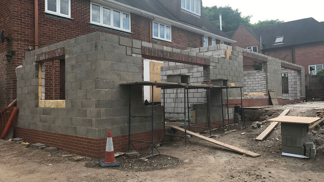 Ongoing building work