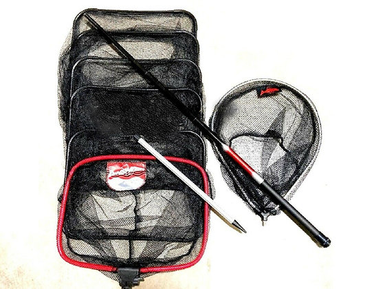 NEW Dinsmores Fishing Keep net , Landing Net , Handle & Bankstick Combo Package