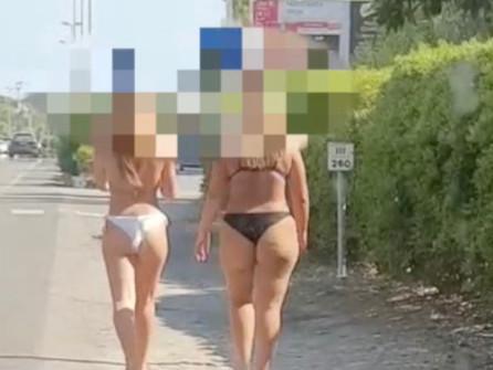 Scalea, vietato girare a torso nudo e in costume: ma l'ordinanza va fatta rispettare