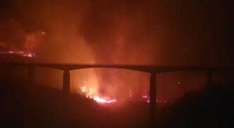 Praia a Mare/San Nicola Arcella/Scalea: alto Tirreno in fiamme. Minacciate abitazioni