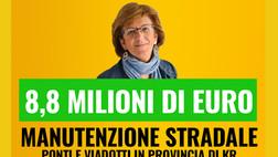 Crotone, poco meno di 9 milioni di euro per ponti e viadotti