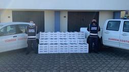 Sequestrate 2 tonnellate e 750 gr. di novellame di sarda dalla guardia costiera