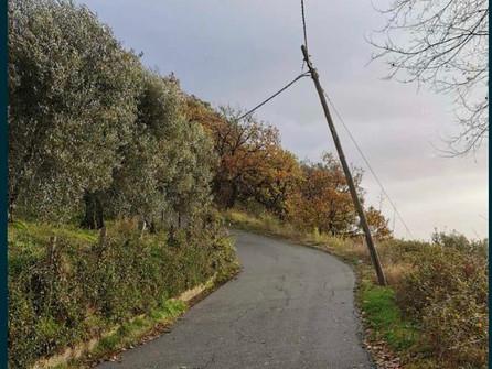Caloveto, pali telefonici pericolanti chiusa la strada