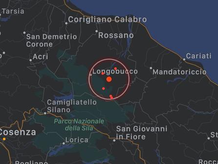 Scossa di terremoto a Longobucco, magnitudo 3.4