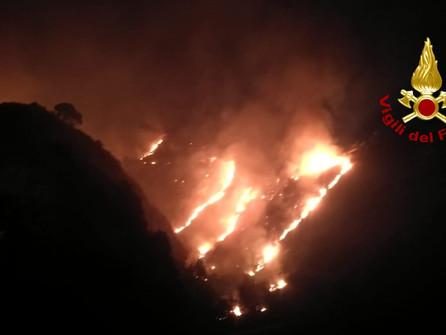 Catanzaro, Vigili del fuoco impegnati su più fronti per incendi estesi