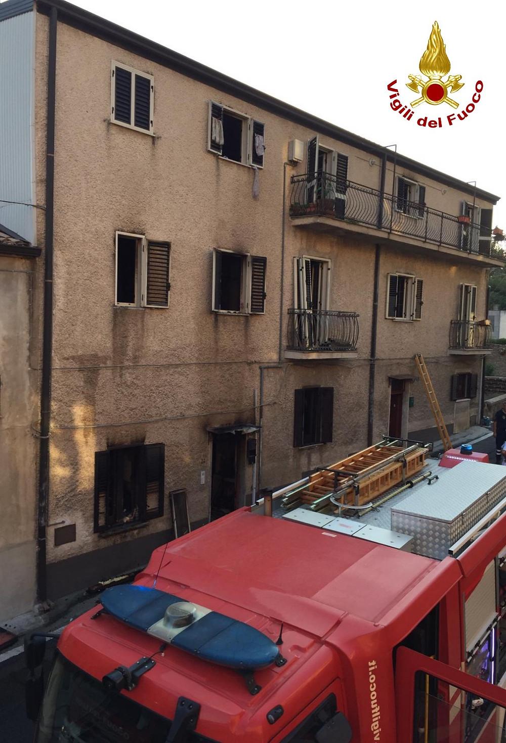 Incendio, Bisignano