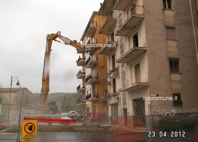 Verbicaro palazzo demolito