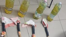 Corigliano Rossano, bottiglie incendiare pronte per l'uso: due denunce