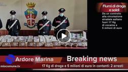 Locri, 17 Kg di cocaina e tanti soldi: 5 milioni di euro in contanti: due arresti - VIDEO