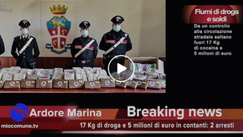 Locri, 17 Kg di cocaina e tanti soldi: 5 milioni di euro in contanti: due arresti - VIDEO