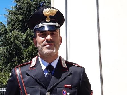 Di Filippo al comando della stazione carabinieri di Rogliano