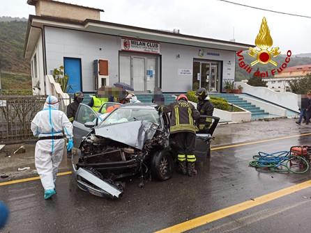 Nocera Terinese, incidente stradale con un ferito