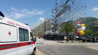 Praia a Mare, bilancio positivo per la Croce Rossa: spalla insostituibile al Jova Beach Party