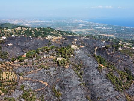 Incendi nell'area montana di Rossano, ancora attivi alcuni focolai