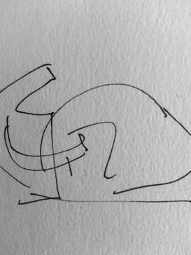 Sketch for Bull tramples Matador