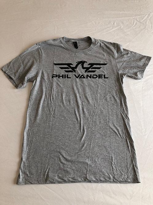 Grey w/ Black PV Logo Concert T-Shirt