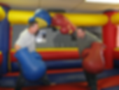 Inflatable boxing two men play fighting lots of fun