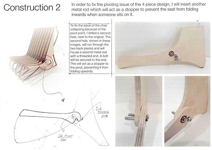 Design development for chair manufactured using CNC