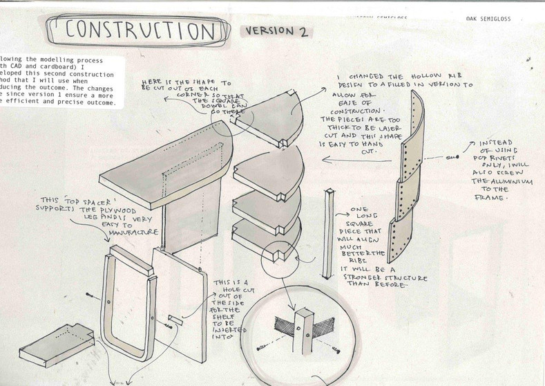 Design drawing for side table