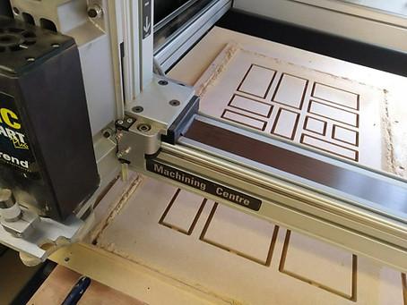 CNC digital machining centre processing a final outcome