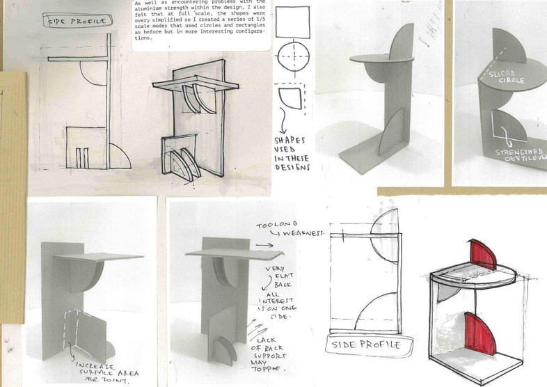 Prototyping maquettes for side table