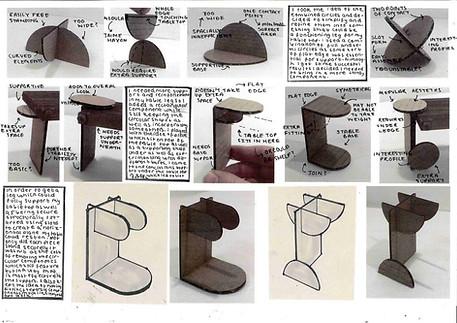 Design and ideas development for furniture