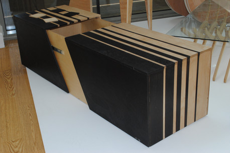Furniture manufactured using manual techniques