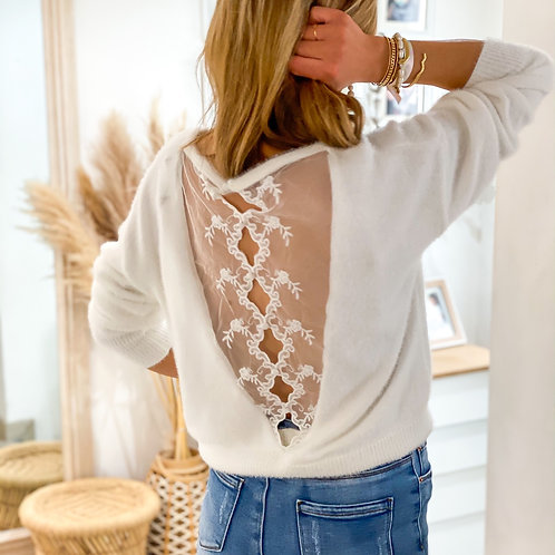 Pull Alice Blanc Col Rond