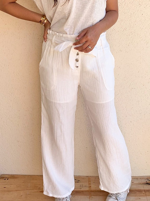 Pantalon Evy Blanc