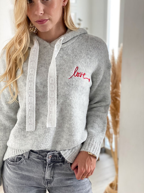 Pull Love Gris