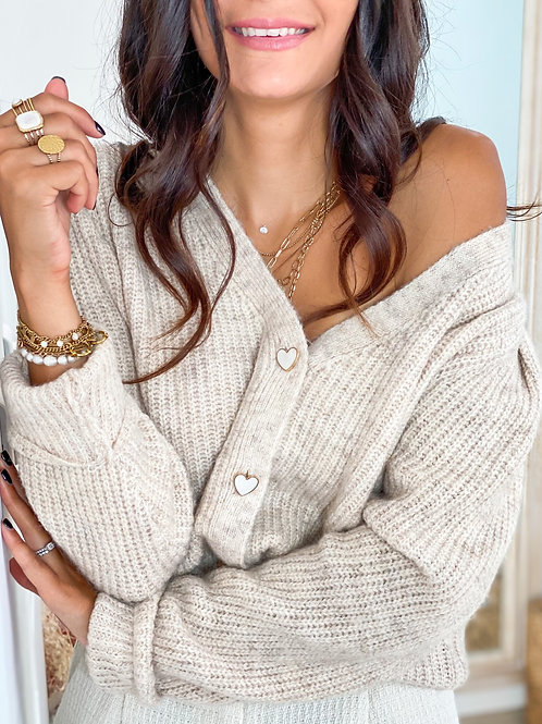 Gilet/Pull Maxence Beige