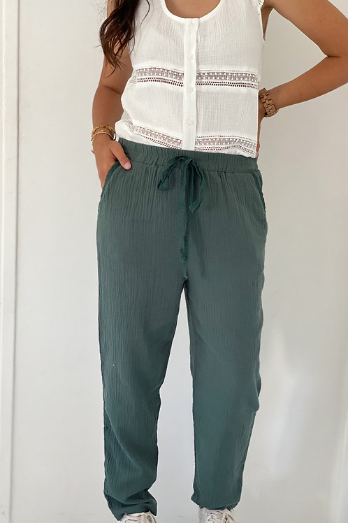 Pantalon Gaby Vert