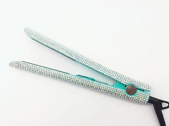 Tiffany Blue Rhinestone Flat Iron