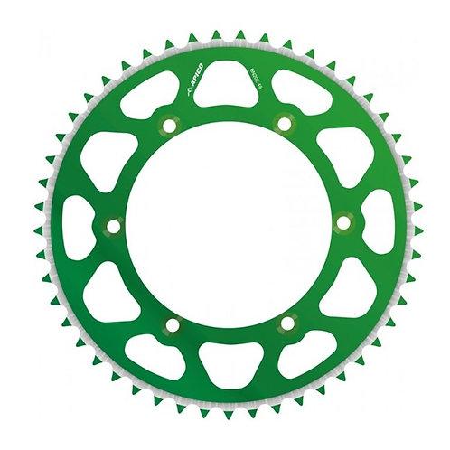 SPROCKET REAR EVOLITE KAWASAKI KX125/250 80-08, KX250F/450F 04-19 52T GREEN (R)